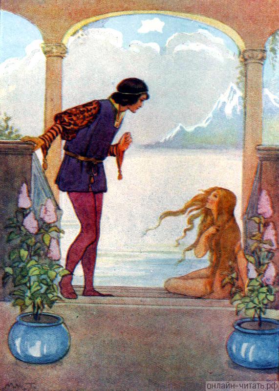 Русалочка и принц. Иллюстрация Маргарет Таррант к сказке ...