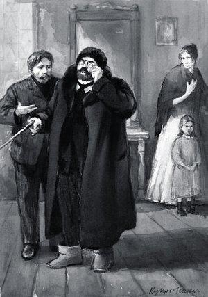 Иллюстрация художников Кукрыниксы к рассказу Чехова «Ионыч»