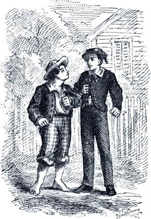 Кто боится? Иллюстрация 1876 г. к 1-му изданию повести Марка Твена «Приключения Тома Сойера»